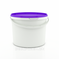 Bucket plastic food 5 l round violet cover