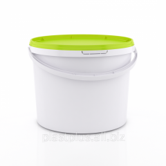Bucket food 5 l with the green (lime) cover