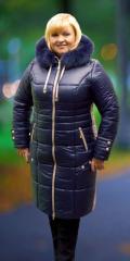 Женское пальто-пуховик с капюшоном Артикул: M14-40