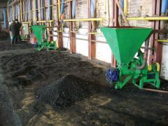 Installation for roasting of a brick solid fuel (coal, pellets, peat, pod)