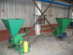 Installation for roasting of a brick solid fuel