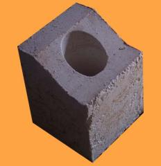 Burner stone of fibrous materials - have the
