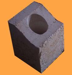 Горелочный камень из волокнистых материалов