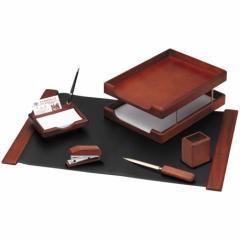 Набор настольный 6 предметов, темно-коричневый