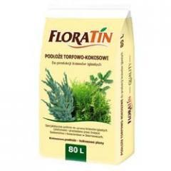 Кокосовый субстрат Floratin для хвойников, 80 л
