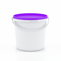 Bucket on 1 l round with the violet cover