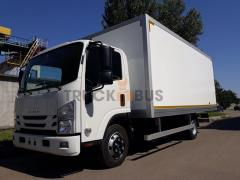 The ISUZU NPR 75L-K/M car a sandwich - a panel van