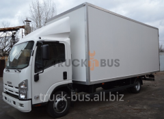 The ISUZU NPR 75L-K/M car - a manufactured goods van