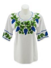 Женская вышиванка бисером «Виноград»