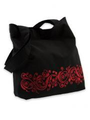 Black bag with a claret Slavic embroidery