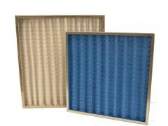 The filter is panel, corrugated thin cleaning for