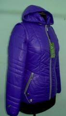 Молодёжная куртка- жилет Liardi код: 65 фиалка