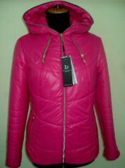 Молодёжная куртка с капюшоном код: 51 малина