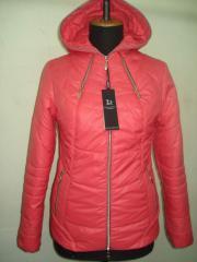 Молодёжная весенняя куртка код: 51 коралл