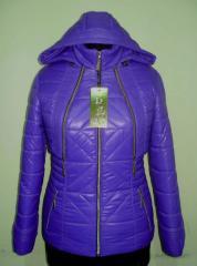 Стильная женская куртка с капюшоном код: лак 59