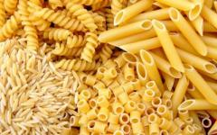 Pasta from firm grades