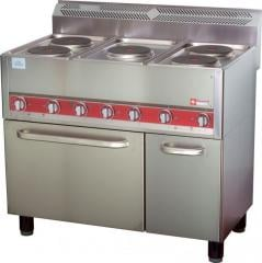 Electric stove, 5 rings