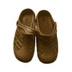 Тапочки детские пена 075, коричневый (хаки)