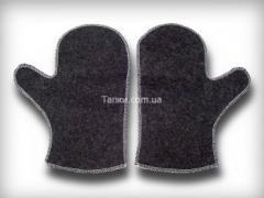 Mittens for a bath, saunas, production and sale of