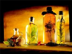 Mixes of Henry Lamotte essential oils. Olive,