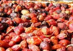 Berries of a zamorozhennye:ezhevik, strawberry,