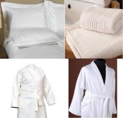 Hotel textiles, bed linen for hotels, a bed,