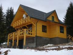 Wooden houses, wooden floor