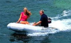 Boats are inflatable motor, motor boats