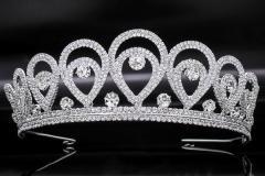 High crown, diadem, tiara for a beauty contes
