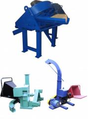Wood waste processing equipment