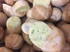 Snails in slivochnochesnochny sauce