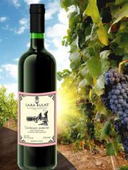 Вино Троицкое красное полусладкое, 075 л