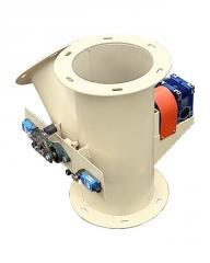 Клапан перекидной круглый с электроприводом КПО