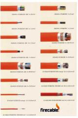 Halogen-free fire-resistant cables and wires of