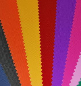 Fabric 420D (nylon) in assortment; production