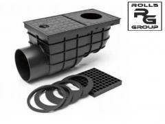 Horizontal storm water inlet of black D110 color