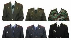 Tailoring of uniform military overalls, tailoring