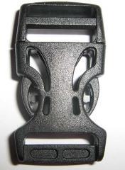 Фастекс 2,5 см (скелет), черного цвета
