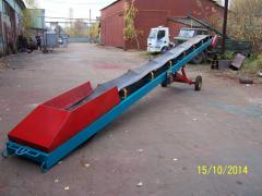 Conveyors with a productivity up to 100 t/h