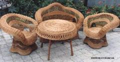 Wicker furniture from a rod, furniture from a rod,