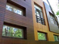Вентилируемые фасады из деревянных панелей Кривой
