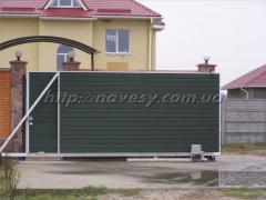 Ворота откатные 3,5Х2м. с автоматикой профнастил