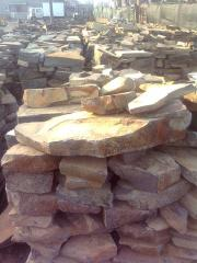 Stone flat natural sandstone