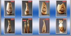 Interior ceramics. Collection of vases Lilia