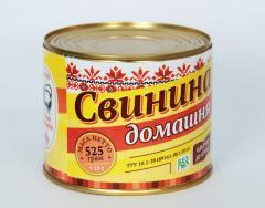 "Свинина тушеная ТУУ ""Домашняя"" 525 гр"