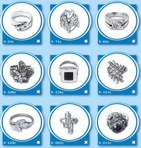 Кольца, колечки, серебро 925 пробы со вставками из драгоценных и полудрагоценных камней- жемчуг, янтарь, изумруды, топазы, фианиты