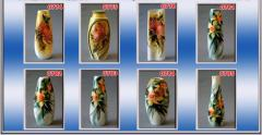 Collection of vases Narcissus, Chrysanthemum