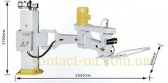 Semi-automatic knee - lever polishing machine of