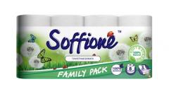 Трехслойная туалетная бумага Soffione Natural