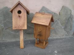 Nesting boxes, feeding troughs